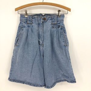 VINTAGE A&M JEAN SHORTS high rise Y2K cargo 80s